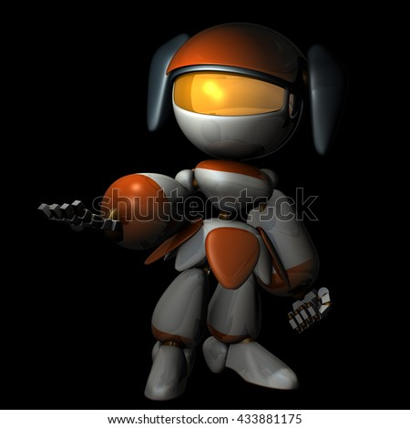 Artificial intelligence that has the ambition. 3D illustration - stock photo