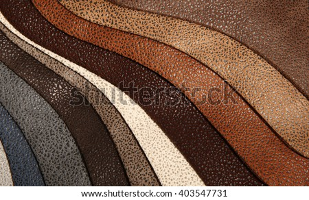Artificial leather variety shades of colors horizontal - stock photo
