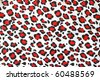 artificial leopard  skin pattern - stock photo