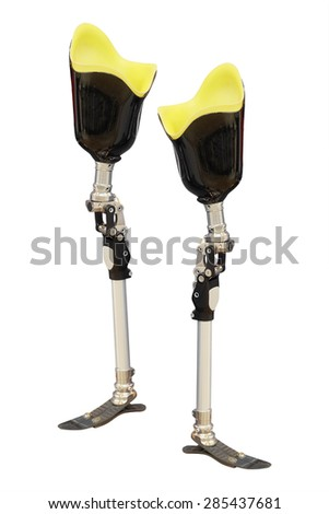 artificial limb on white background