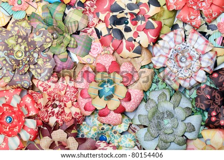Artificial paper flowers - stock photo