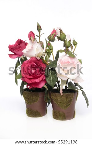 artificial rose - stock photo