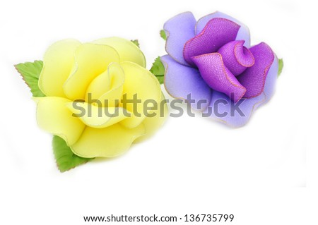 Artificial rose with camphor isolated on white - stock photo