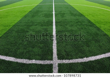 Artificial Soccer Field - stock photo