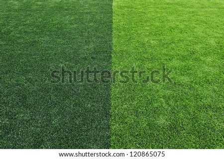Artificial Soccer Field Background - stock photo
