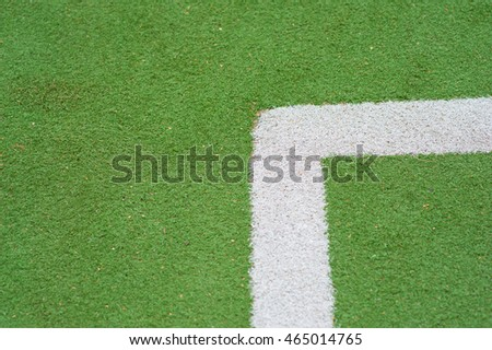 Artificial turf for football markup