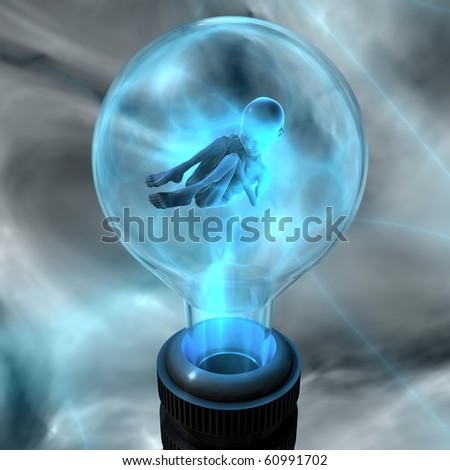 Artificially bred embryo - stock photo