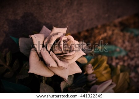 artificially rose  - stock photo