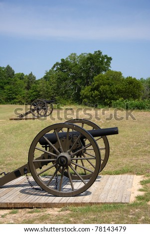 Artillery at Andersonville National Historic Site, Georgia
