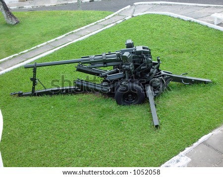 Artillery in the Fortress Mont Serrat - Salvador de Bahia - Brazil - stock photo