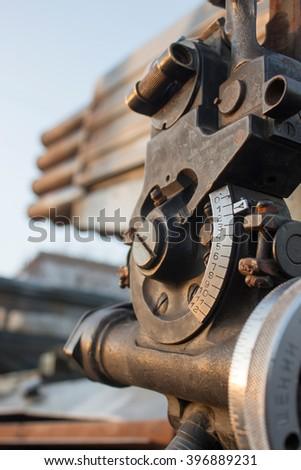 Artillery sight close up - stock photo