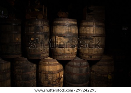 Artisan Brewing Barrels - stock photo