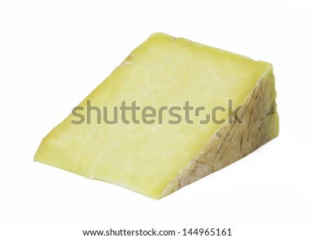 Artisan Cheese Wedge - stock photo