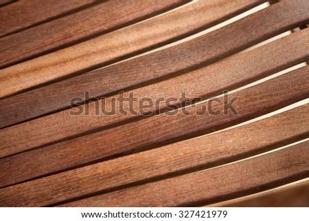 artisan wood slats  - stock photo