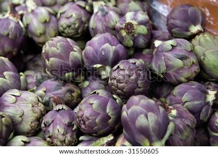 Artishoke. Borough market - stock photo