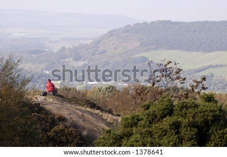 Artist at work in a state of hazy tranquility. - stock photo