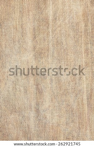 Artist Beige Primed Linen Duck Canvas, coarse grain, bleached, mottled, stained grunge texture.