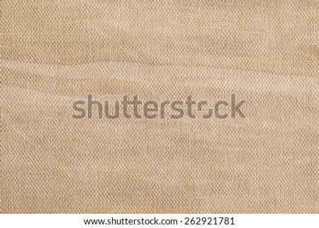 Artist Beige Primed Linen Duck Canvas, coarse grain, bleached, mottled, stained grunge texture. - stock photo