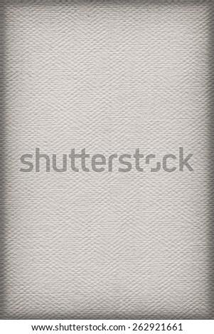 Artist Light Gray Primed Linen Duck Canvas, coarse grain, vignette grunge texture - stock photo