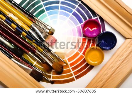 artist objects - stock photo