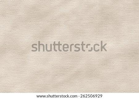 Artist Primed Cotton Duck Canvas coarse grain, crumpled, grunge texture. - stock photo
