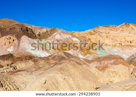 Artist's Drive, Death Valley National Park, USA - stock photo