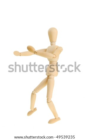 Artist's mannequin in a martial art fighting pose