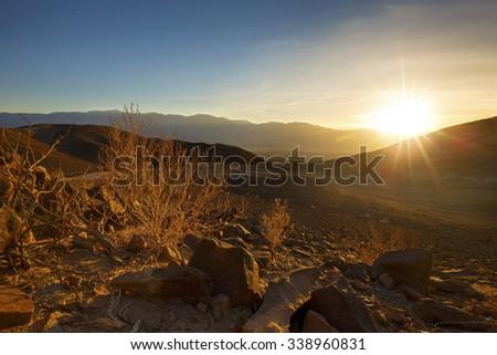 Artist's Palette, Death Valley National Park - stock photo