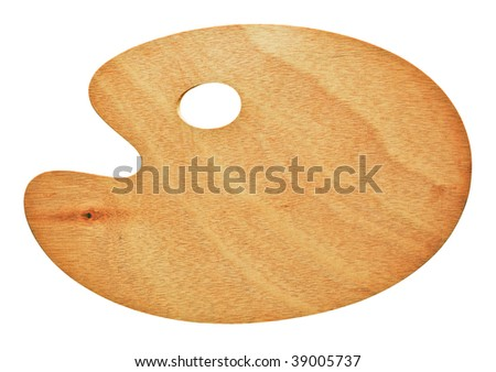 Artist's palette isolated on white background - stock photo