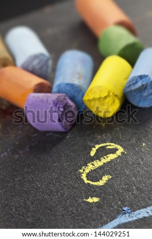 artist�´s pastels, detail macro shot with low DOF (depth of field) - stock photo