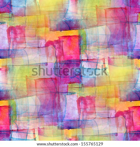 artist seamless blue cubism abstract art texture watercolor wallpaper background - stock photo