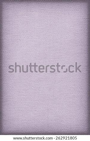 Artist Violet Primed Linen Duck Canvas, coarse grain, vignette grunge texture. - stock photo