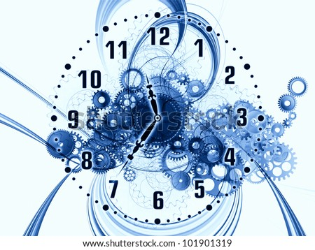 Artistic background for use with projects on scheduling, temporal and time related processes, deadlines, progress, past, present and future - stock photo