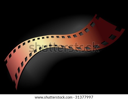 Artistic background of 35 mm film, color  version - stock photo