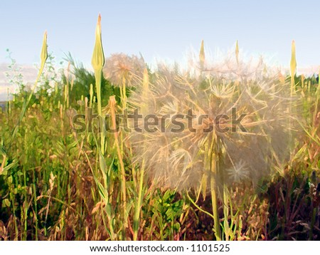 Artistic background of weeds - stock photo