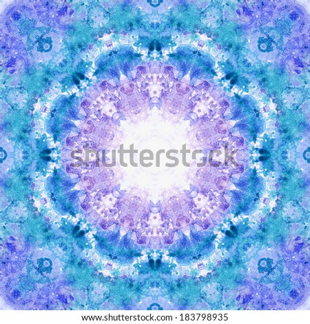 Artistic background, seamless abstract pattern, watercolor hand painting - stock photo