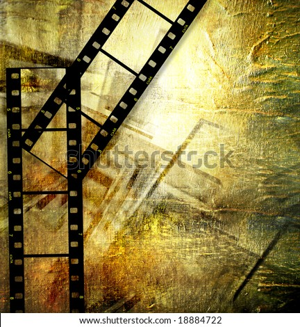 artistic background with film strips