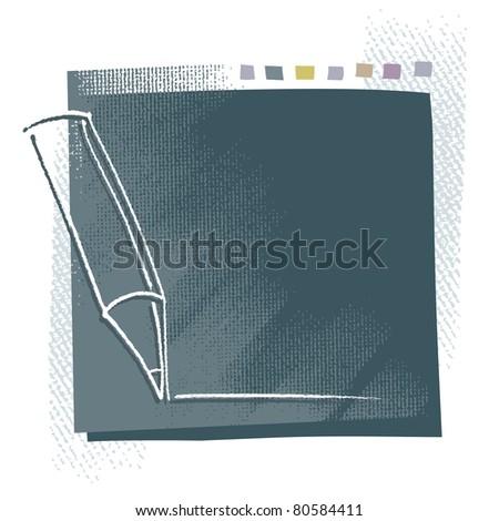 Artistic blank background, pencil icon (grunge background)  (raster version) - stock photo