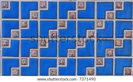 Artistic blue cubes background with style - stock photo