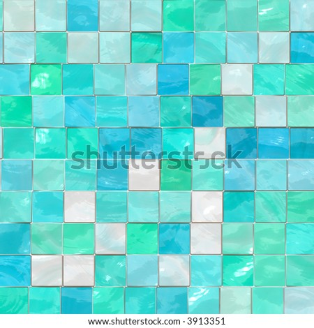 Artistic blue tile
