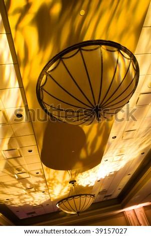 artistic celling light - stock photo