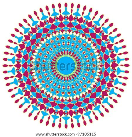 Artistic circular design - stock photo