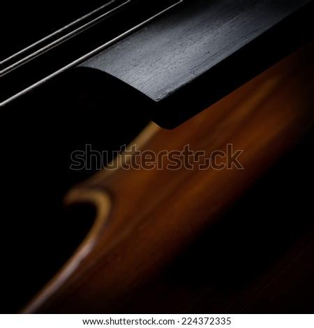 Artistic closeup for cello - stock photo