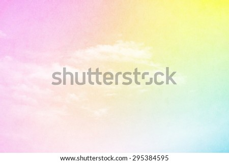 artistic cloud and sky in gradient color abstract background with grunge paper  texture - stock photo
