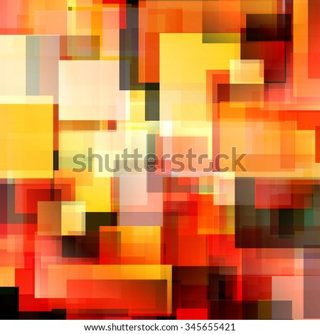 Artistic Color bright rectangle polygon background or frame. Colorful Abstract Geometrical Backdrop. Geometric design for business presentations or web template. sunny yellow red Illustration - stock photo