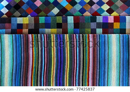 Artistic colorful patchwork background with rectangles and stripes