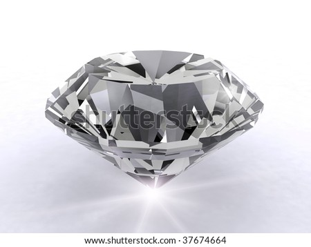Artistic 3d diamond - stock photo