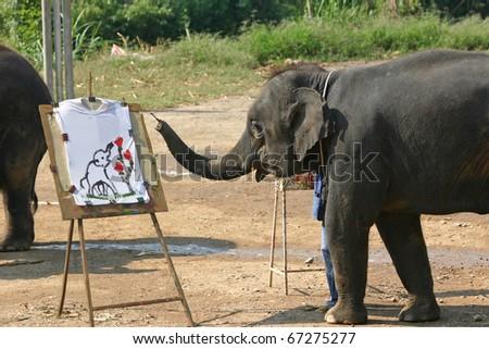 Artistic Elephant - stock photo
