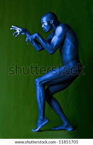Artistic expression of an African american form and shape - stock photo