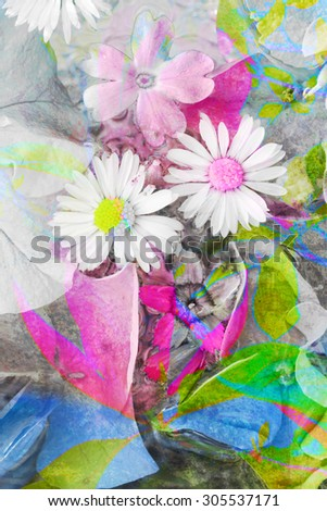 Artistic, floral, abstract background - stock photo